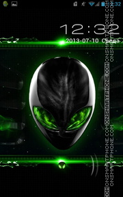 Green Alienware theme screenshot