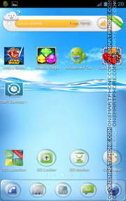 Clear Water theme screenshot
