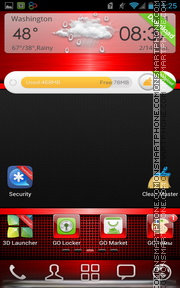 Red Gloss 01 theme screenshot