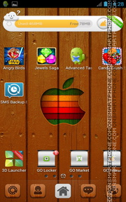 iOs 7 Wood Apple theme screenshot