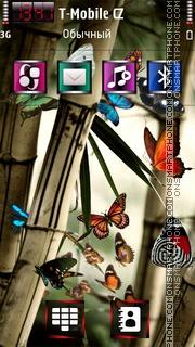 Скриншот темы Butterflies 3.5 HD