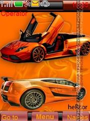Скриншот темы Lamborghini Orange