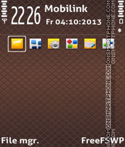 Chocolate Squares theme screenshot