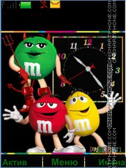 Скриншот темы M&M's
