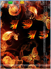 Fire theme screenshot