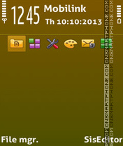 Скриншот темы New lime adam11