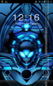 Blue Alien theme screenshot