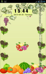 Fruits 10 theme screenshot