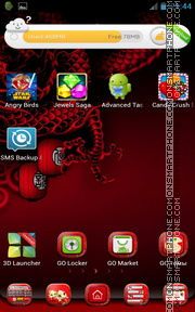 Japanese Dragon tema screenshot