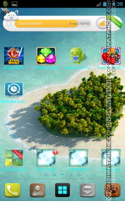 Island In Ocean theme screenshot