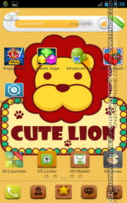 Cute Lion theme screenshot