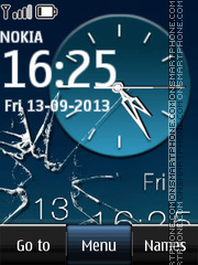Glass Dual Clock tema screenshot