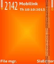 Orange x es el tema de pantalla