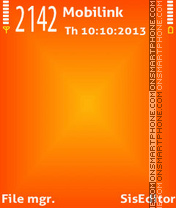 Скриншот темы Orange x