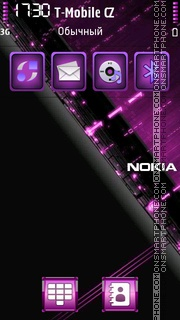 Nokia Violet 01 tema screenshot