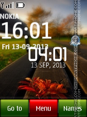Bench Live Clock theme screenshot
