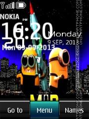 Minion Digital Clock theme screenshot