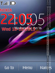 Xperia theme screenshot