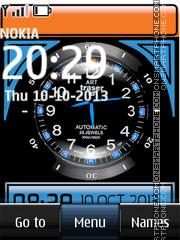 Dual Blue Clock 01 theme screenshot