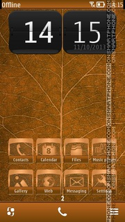 Leaf Of Autumn theme screenshot