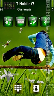 Jumping Man tema screenshot