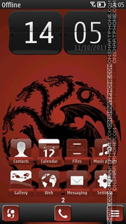 Fire and Blood es el tema de pantalla