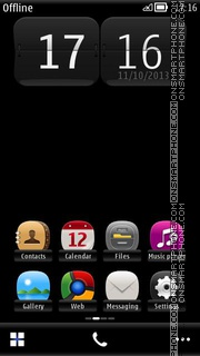 Notte Black Luxury theme screenshot
