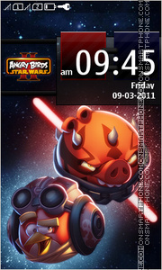 Скриншот темы Angry Birds Star Wars II
