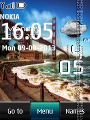 Bridge In USA Live Clock theme screenshot