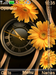 Yellow flowers tema screenshot