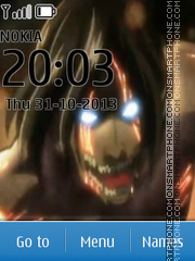 Attack on Titan theme screenshot