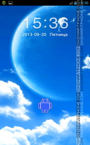 Blue Sky Android theme screenshot