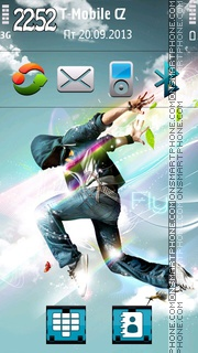 Hip-Hop Dance 01 theme screenshot