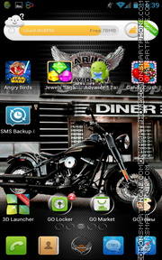 Harley Davidson Moto theme screenshot
