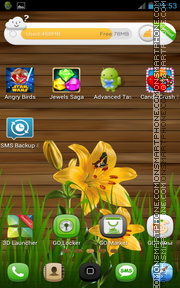 Nature - Yellow Asiatic Lilies theme screenshot