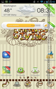 Thanksgiving theme screenshot