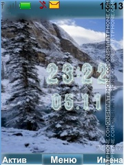 Скриншот темы Nature mountains
