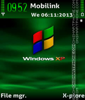 Window xp tema screenshot