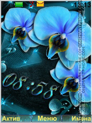 Blue Orchid theme screenshot