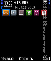 Скриншот темы Blue Square