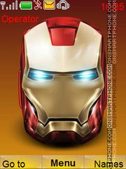 Iron man tema screenshot