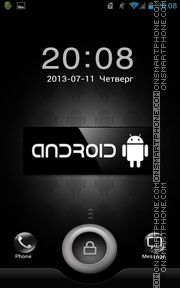 Скриншот темы Black Android Button