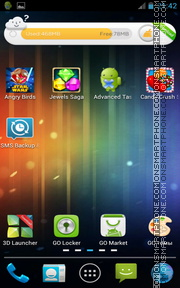 ICS Ice Cream Sandwich tema screenshot