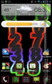 Numbers theme screenshot