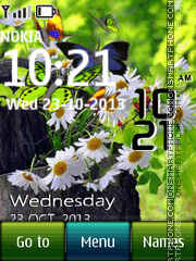 Butterfly Digital Clock theme screenshot
