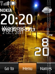Night Street Live Clock theme screenshot