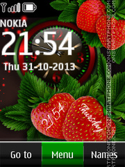 Strawberry Dual tema screenshot