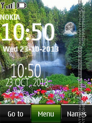 Waterfall live clock 02 theme screenshot