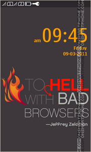 Bad Browser es el tema de pantalla