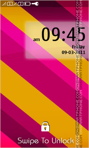 Pink Yellow Stripes theme screenshot